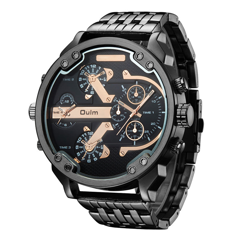 Oulm Stainless Steel Military Watches for Men