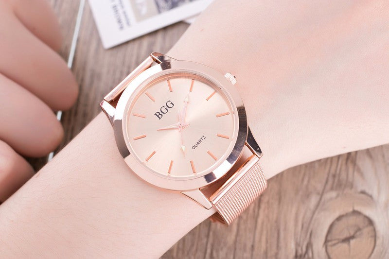 Luxurious Watch with Super Slim Stainless Steel Mesh Band (also available in pink)