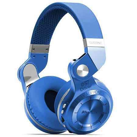 Blue DELTRON 4 in 1 Bluetooth Foldable Headphone