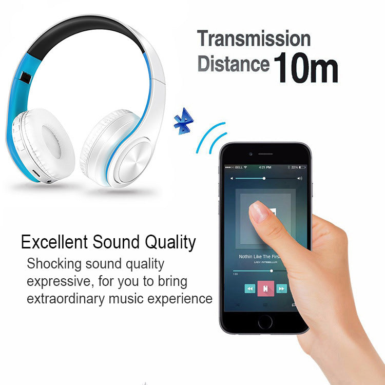 DRODEN Bluetooth Foldable Wireless Headphone - White
