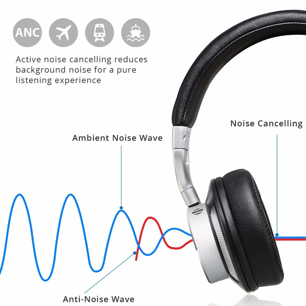 V200 Active Noise Cancelling Apt-x Bluetooth Headphone