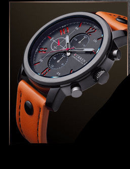 Orange and Black Classic Watch