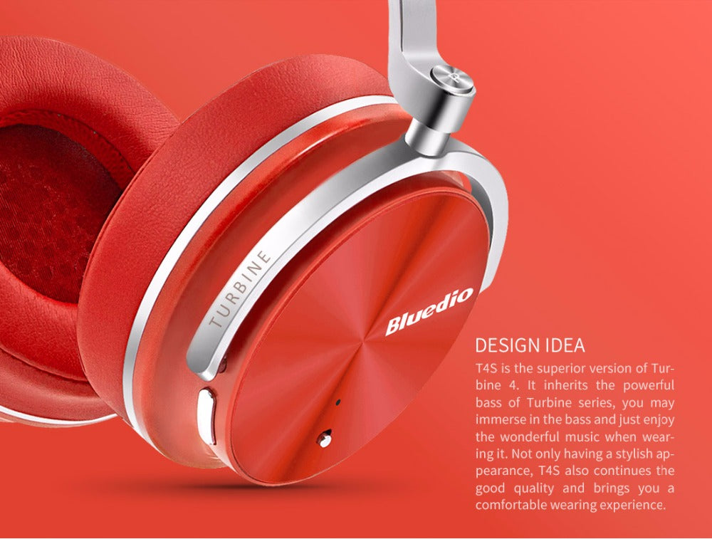 T4S  Active Noise Cancelling Wireless Bluetooth headphone