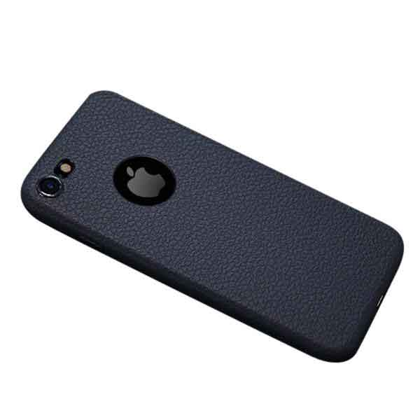 Navy Blue Ultra Thin High End Leather iPhone Case