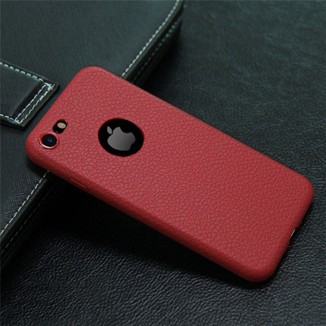 Ultra Thin High End Leather iPhone Case