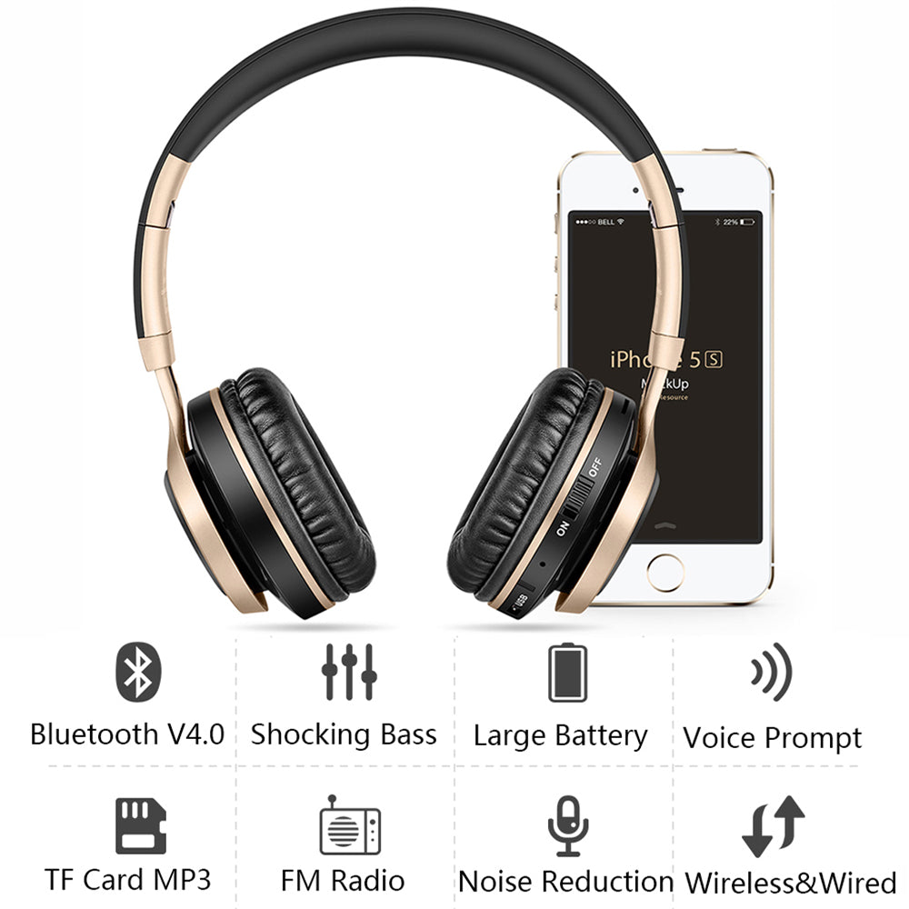 BT8 Bluetooth Headphone - Supports TF Card