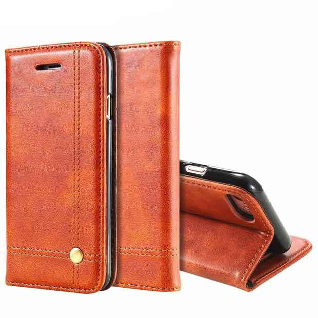 FLOVEME Flip Leather Wallet Cover iPhone Case