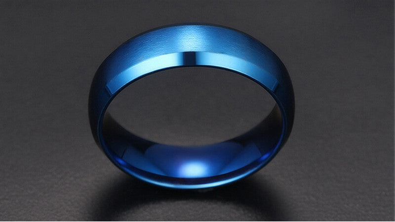 matte finish blue ring