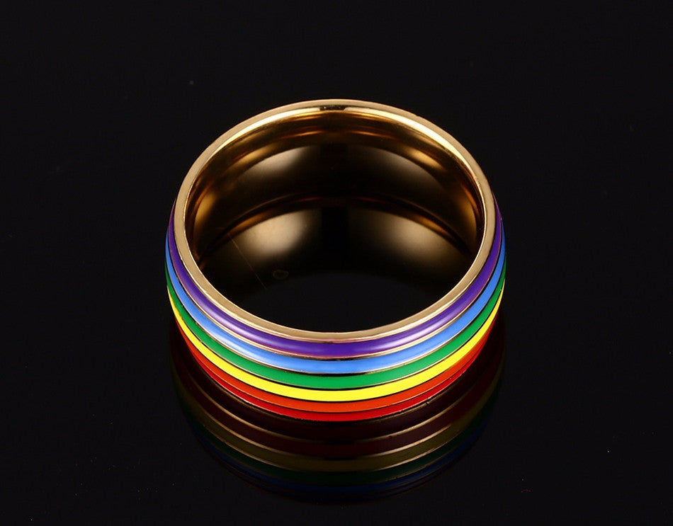 Colorful High Polished Stainless Steel Ring