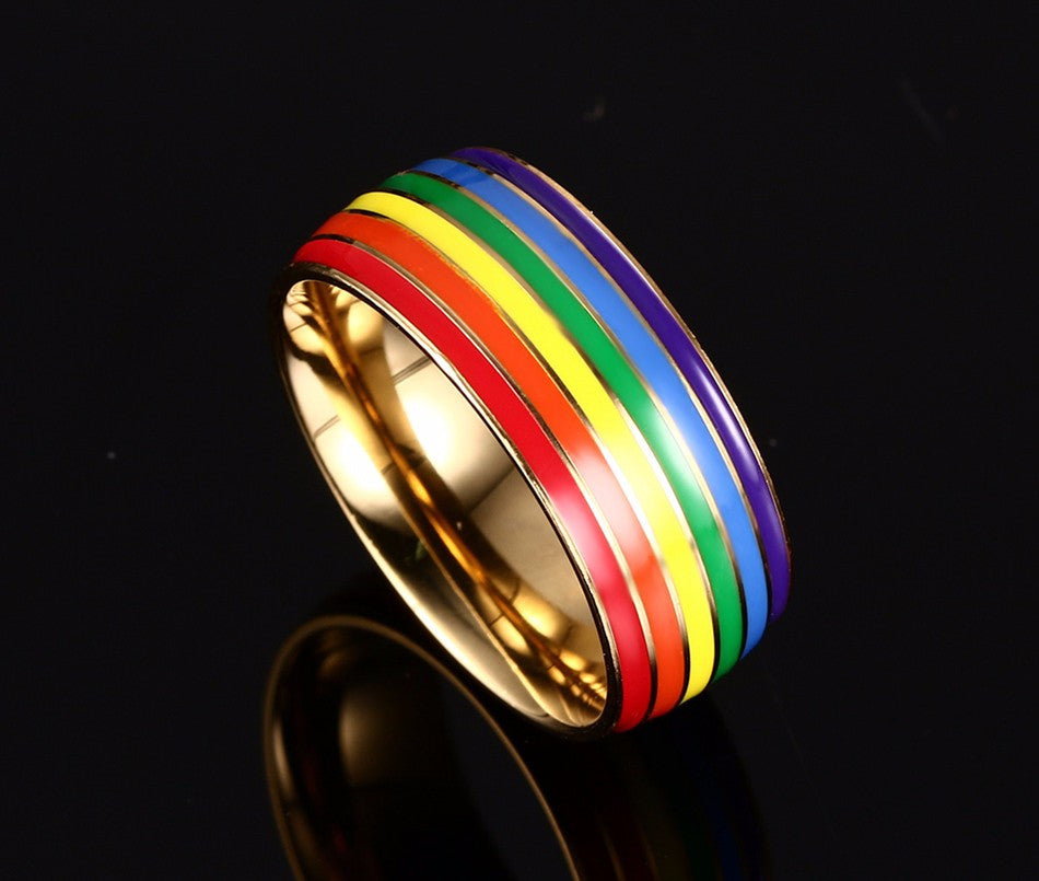 stainless steel colorful ring