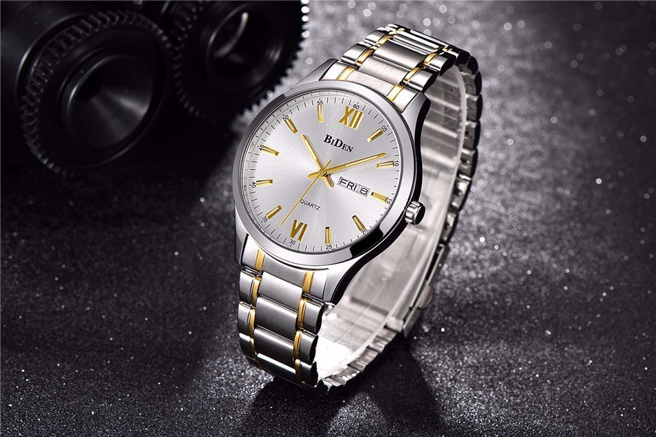 Silver and Gold Waterproof Watch