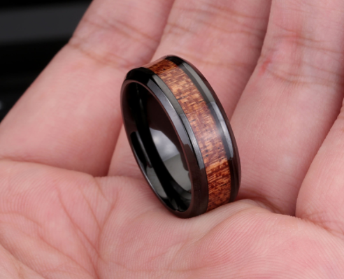 black ring and red wood inlay inside