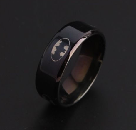 Batman Symbol Titanium Stainless Steel Ring
