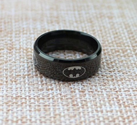 black batman ring
