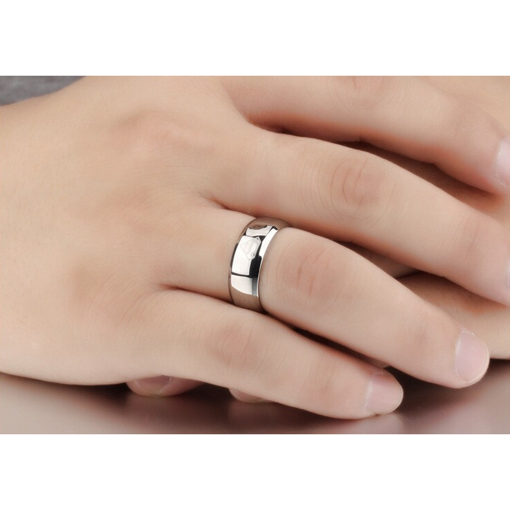 silver superman ring for men