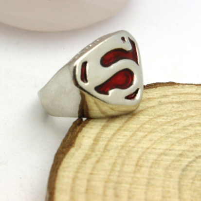 silver superman ring