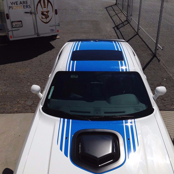 Dodge Challenger Shaker Mopar Factory OEM Style Hood Roof Trunk Rally Vinyl Graphics