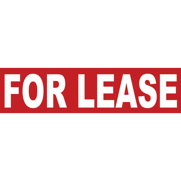 FOR LEASE RIDER- Real Estate Sign