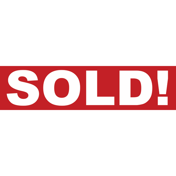 SOLD RIDER- Real Estate Sign