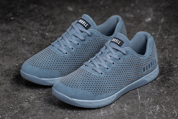 Preview of Steel Blue Suede Trainer