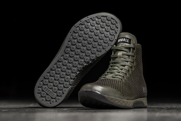 Preview of High-Top Moss Leather Trainer