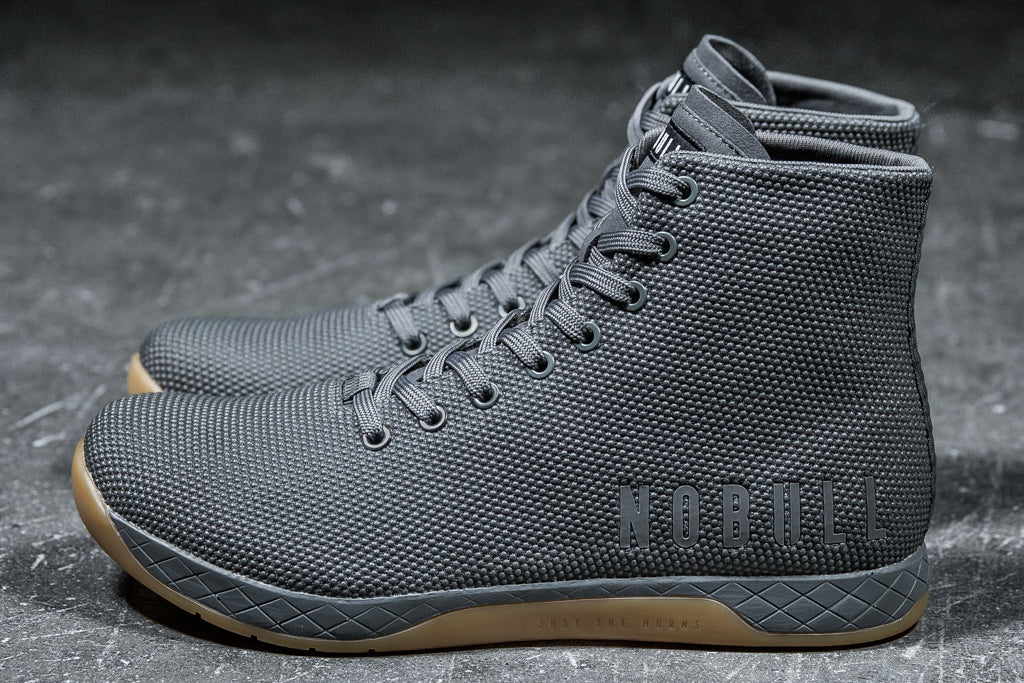 HIGH-TOP DARK GREY TRAINER (MEN'S)