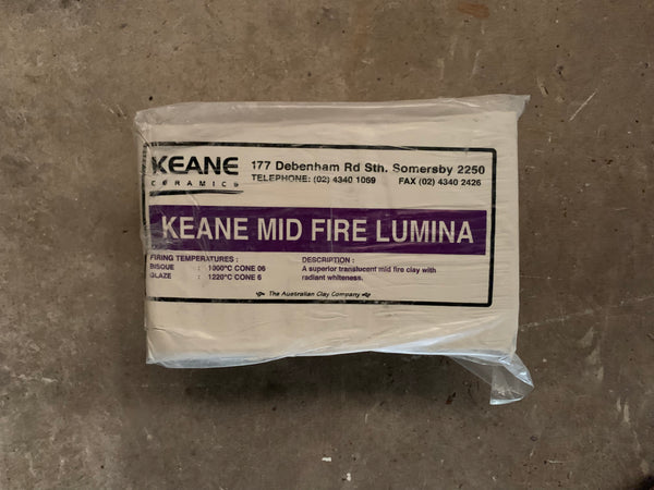 KEANE Clay : Lumina Porcelain Mid Fire