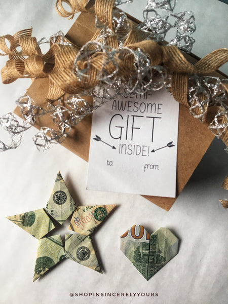 Origami Cash Gift | Insincerely Yours
