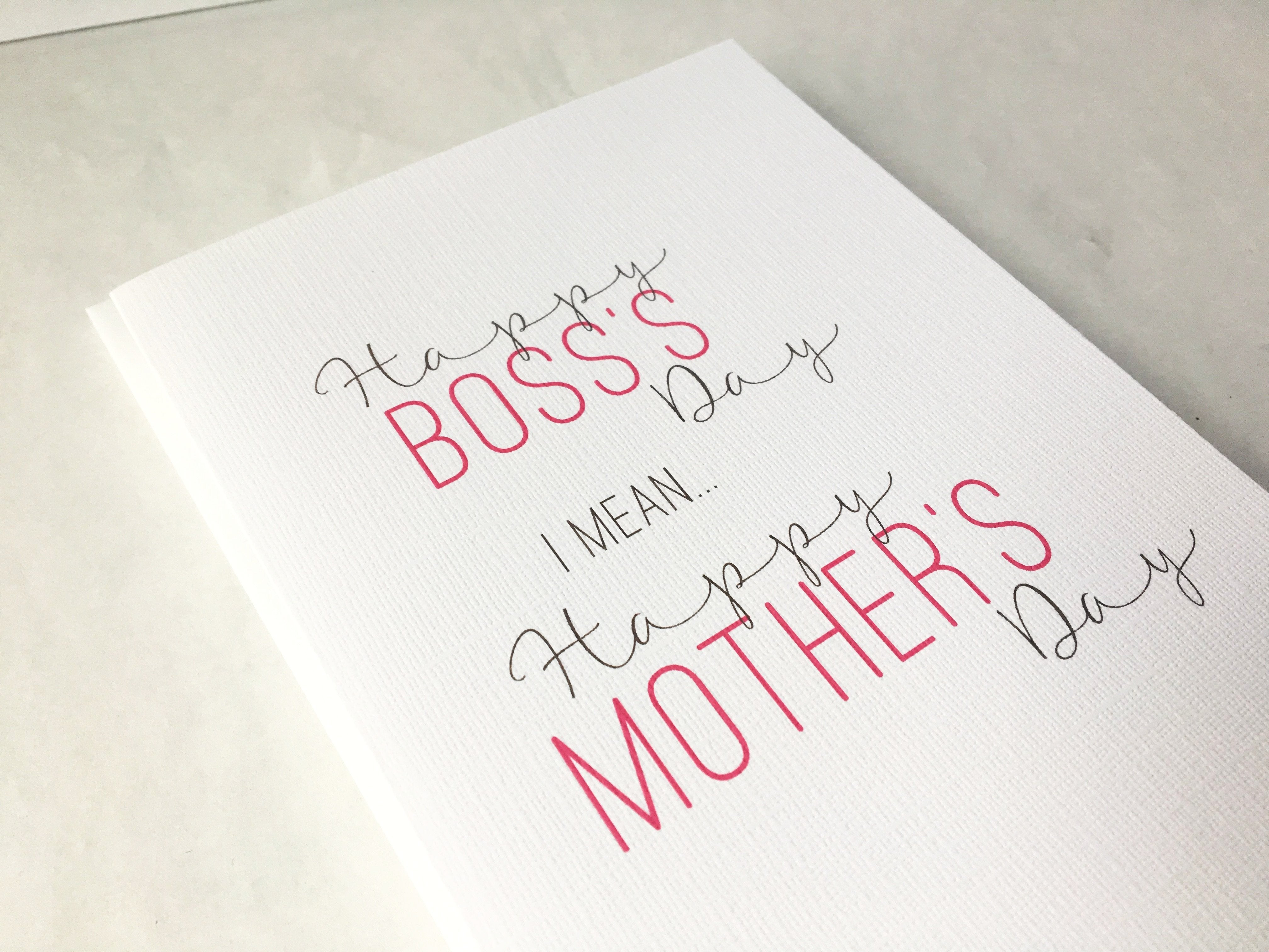 Mother's Day Like a Boss | Card for Mom