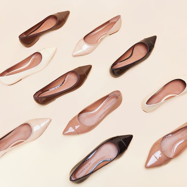 the skim flat in different nude shades