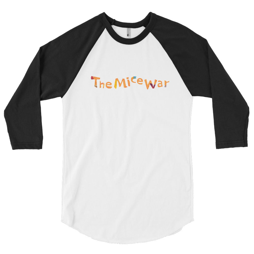 The Mice War 3/4 sleeve baseball shirt