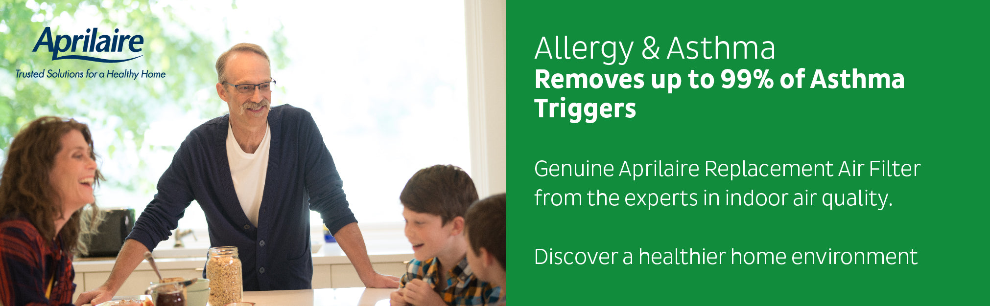 Family not suffering from allergies