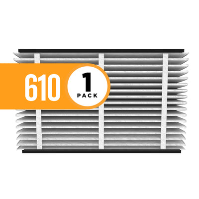 Aprilaire 610 Air Filter - Fits Aprilaire Filter Grille 1625FG and air cleaner models by Carrier, General, Honeywell, Lennox, Trion, and Ultravation