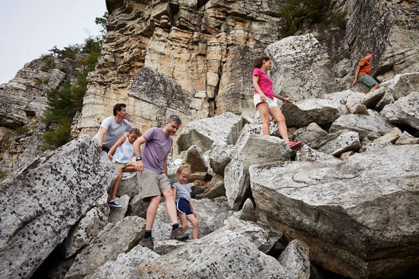 mohonk rock scramble with toucca kids sunglasses