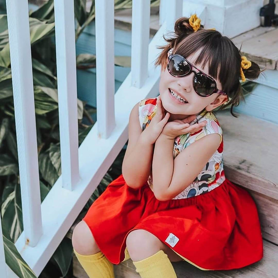 toucca kids pink tortoise best childrens polarized aviator sunglasses little girl wearing cute fall outfit