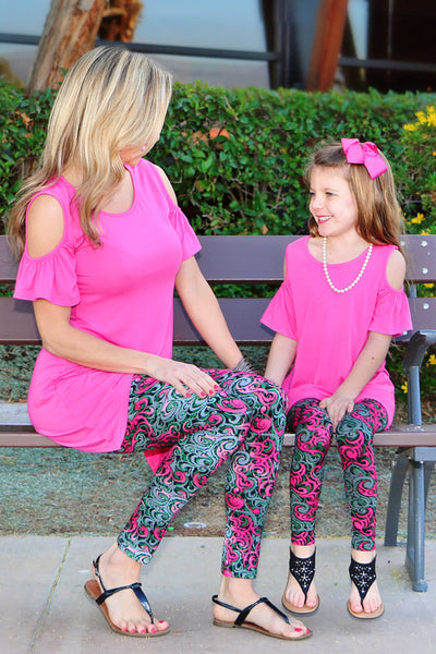 Mommy and Me matching outfits clothing leggings