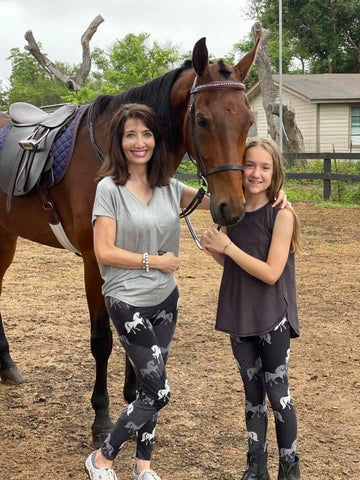Mommy and Me Horse Leggings from MomMeAndMore.com