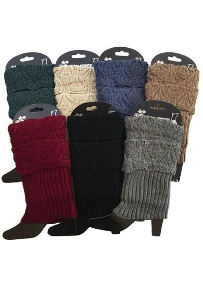 Women's Rolled Cuff Sweater Leg Warmers Short Boot Topper accessories MomMe and More