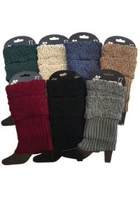 Winter Boot Cuff Toppers Sweater Leg Warmers: Solid/Multi-Colors - MomMe and More