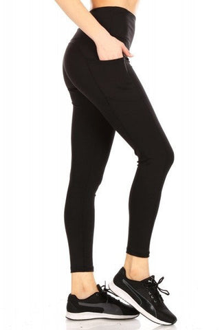 Women's Pocket Leggings: Black Leggings MomMe and More