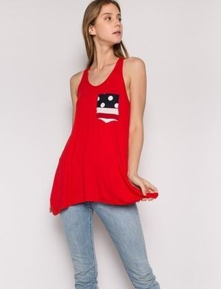 Women's American Flag Summer Red Tank Top: S/M/L/XL Tops MomMe and More