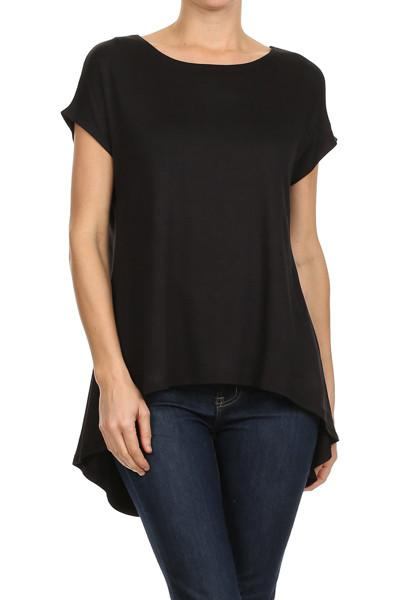 50% Off Women's Short Sleeve Tunic Top Black: S/M/L Tunics MomMe and More