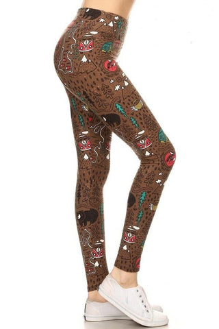 Women's Camper Bear Yoga Leggings Leggings MomMe and More