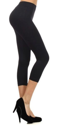 Women's Black Capri Leggings Leggings MomMe and More
