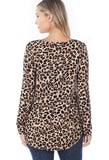 Womens Cheetah Leopard Printed V-Neck Top Tops MomMe and More