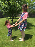 Mommy and Me Dresses: Pink/Blue dress MomMe and More