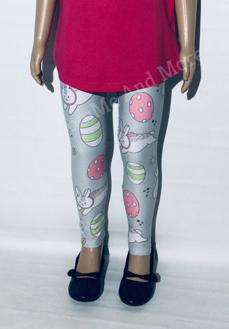 Girl's Peter Cottontail Easter Leggings: S and L Leggings MomMe and More