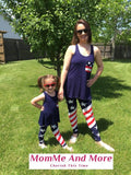 Women's American Flag 4th of July Summer Tank Top Blue: S/M/L/XL Tops MomMe and More