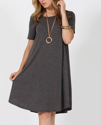 Women's Gray Pocket Dress: S-3XL dress MomMe and More