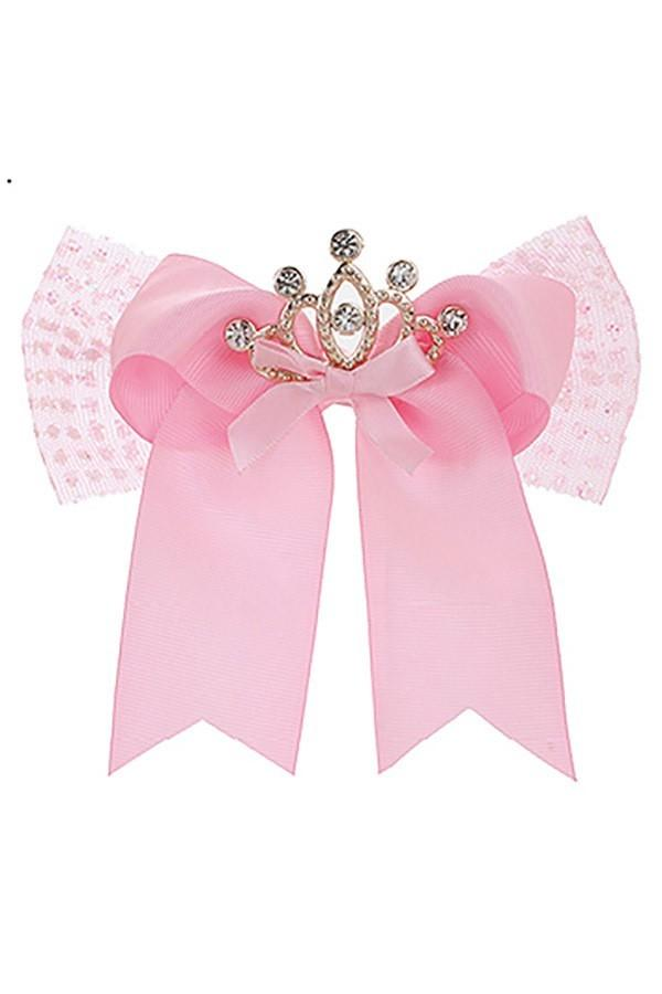 Girl's Toddler Valentine's Day JoJo Inspired Large Hair Bow: Princess Crown